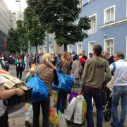 Westbahnhof: Starke Zeichen der Zivilgesellschaft